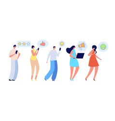 people talking friends online conversation vector image