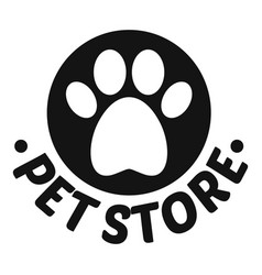 Pet toys store logo simple style vector