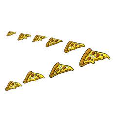 pizza slice like bird pop art vector image