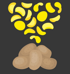 Potatoes chips vector