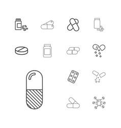Prescription icons vector