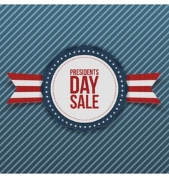 Presidents Day Sale white and blue Banner vector image