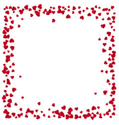 red hearts frame with place for text isolated on vector image