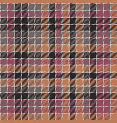 Red orange mosaic plaid seamless fabric texture vector