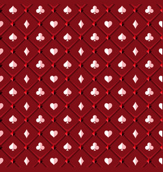 Red poker background vector