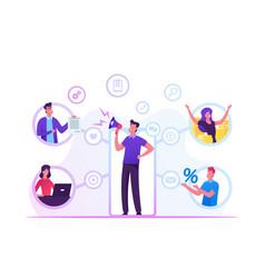 referral program business concept salesman vector image