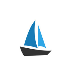 sailboat icon design template isolated vector image