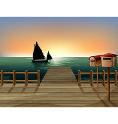 Seaside Dock View vector