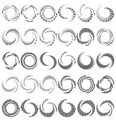 Segmented circle with rotationcircular and radial vector