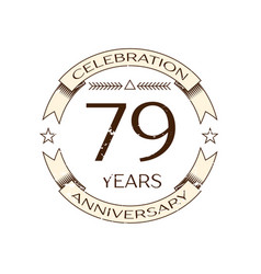 seventy nine years anniversary celebration logo vector image