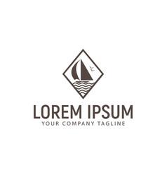 ship logo design concept template vector image