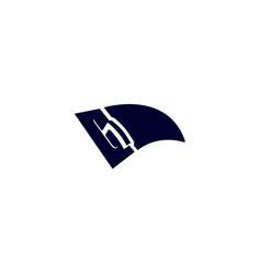 Stucco plasterer logo left angled vector