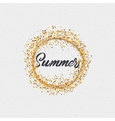 Summer - a label icon sticker badge stamp can vector image