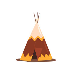 Teepee or wigwam dwelling of north nations of vector
