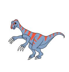 therizinosaurus dinosaur vector image