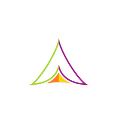 triangle line color abstract logo vector image