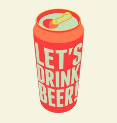 typography vintage beer poster vector image
