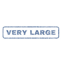Very large textile stamp vector