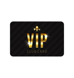 VIP card template vector