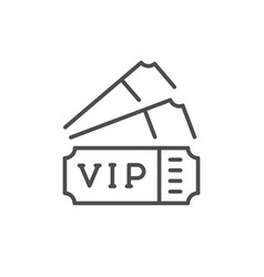 Vip tickets line outline icon vector