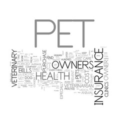 Which health plans offer pet health insurance vector