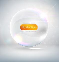 White Bubble Backdrop vector