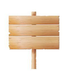 wooden signboards cartoon wood banner vector image
