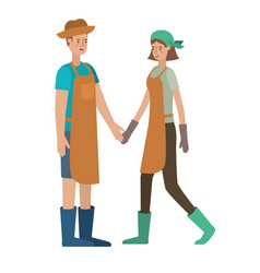 Young couple avatar character vector