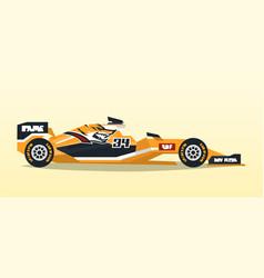 a racing bolid sport car quick transport vector image