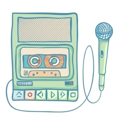 Audio Tech Isolated vector image