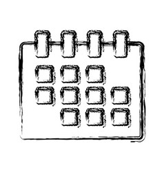 calendar isolated symbol vector image
