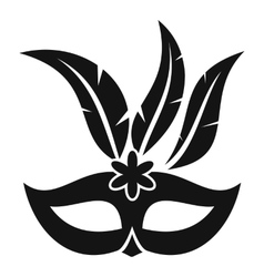 Carnival mask icon simple style vector image
