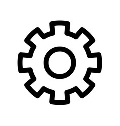 cog wheel icon symbol of settings or gear vector image