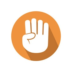 Four fingers gesture vector image vector image
