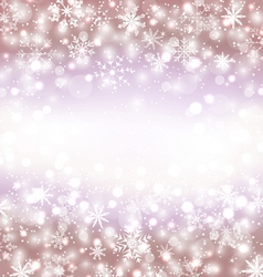 Navidad winter background with snowflakes and copy vector image vector image