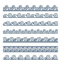 Wave borders vector image vector image