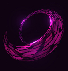 abstract 3d spiral torus shape vector image vector image