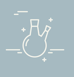 chemical round bottom flask line icon vector image