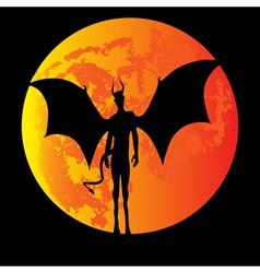 Devil Moon vector image vector image
