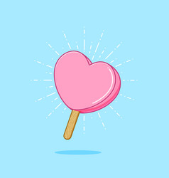 sweet valentine popsicle vector image vector image