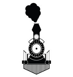 train antique black vector image