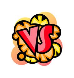 comic versus template in classic pop art style vector image
