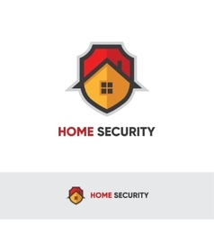 Home security logo vector image vector image