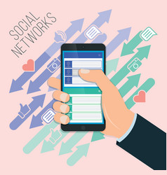 mobile social networking chat chat exchange vector image vector image