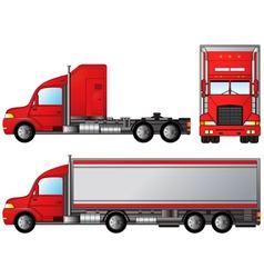 set big american truck vector image