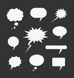set of symbols comic bubble vector image vector image