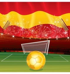 soccer cartoon vector image