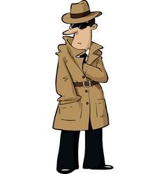 spy hides hand vector image vector image