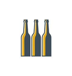 Beer Bottles Retro vector image vector image