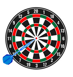 dartboard with small missile arrow in goal vector image vector image
